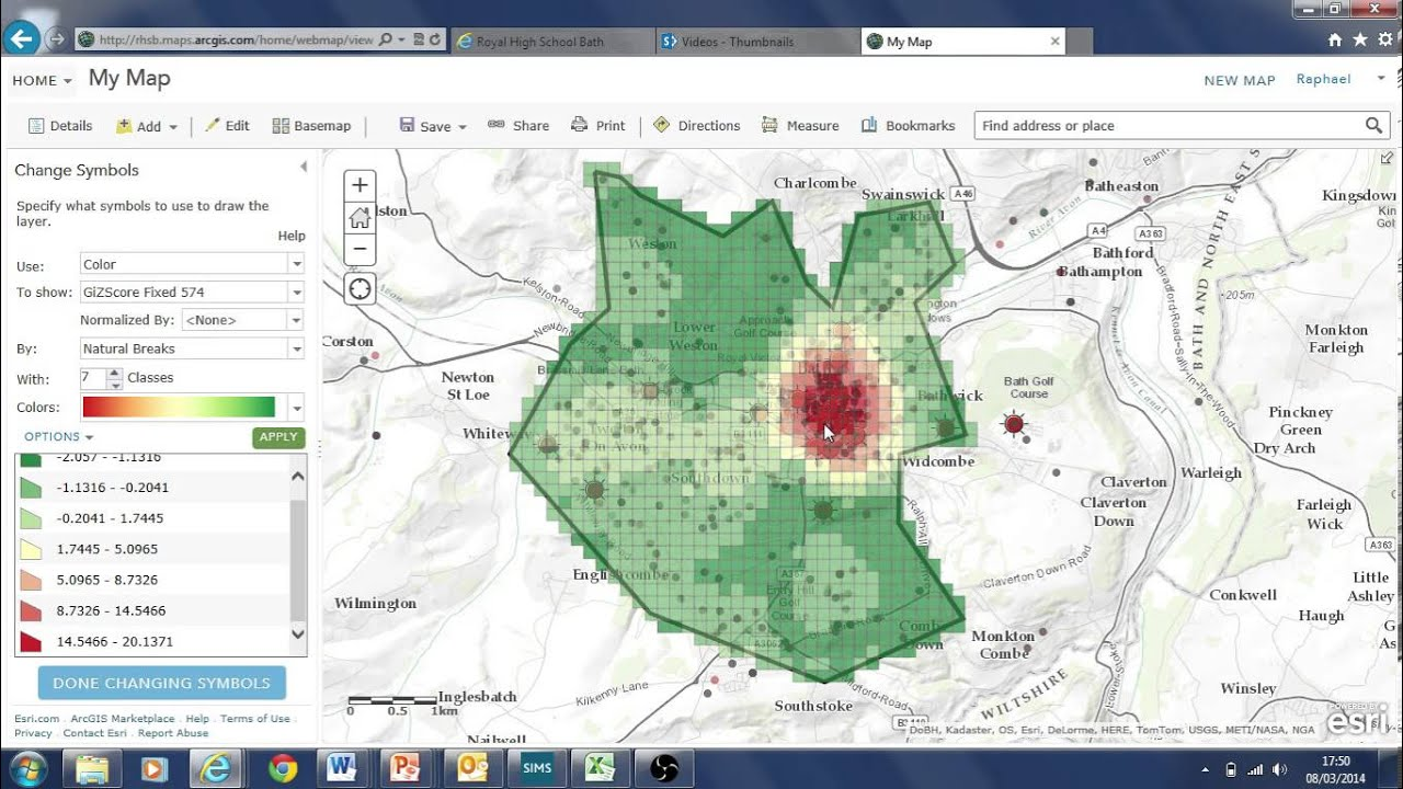 data analysis tools using crime data ArcGIS online