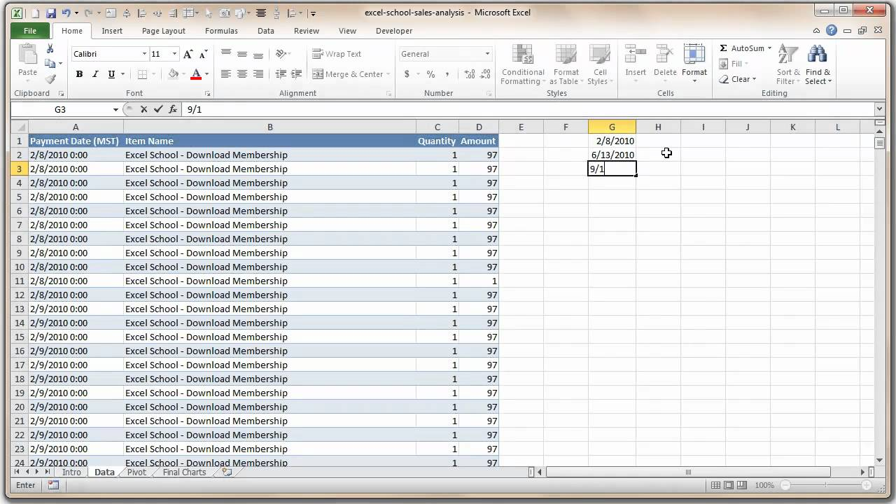 How to Analyze Sales Data with Excel