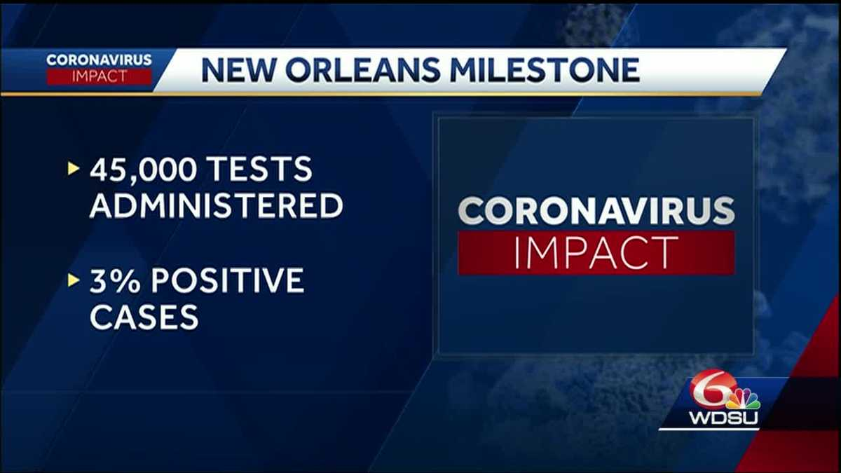 New Orleans mayor reviews COVID-19 data with city in phase 1 of reopening