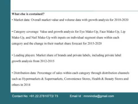 Consumer and Market Insights on Make Up Market in