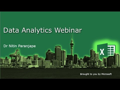 Excel 2013 Data Analytics Webinar: How to Structure and Analyze large data with Power BI tools