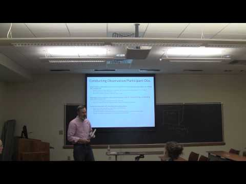 Pt. 7- Interviews, Observation, & Data Analysis: Professor Henke Social Science Research Bootcamp