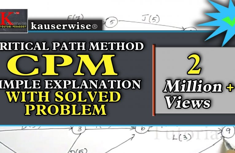 CPM – Critical Path Method||Project Management Techniques||Operations Research|| Solved Problem