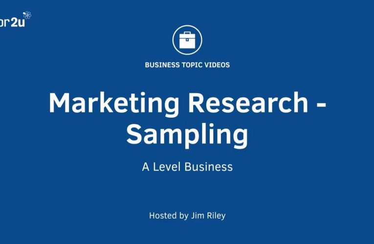 Sampling and Marketing Research