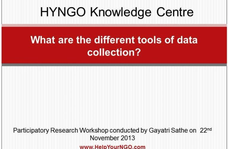 What are the different tools of data collection?