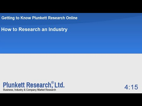 How to Research an Industry in Plunkett Research Online