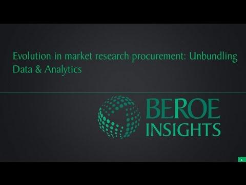 Evolution in market research procurement unbundling data and analytics