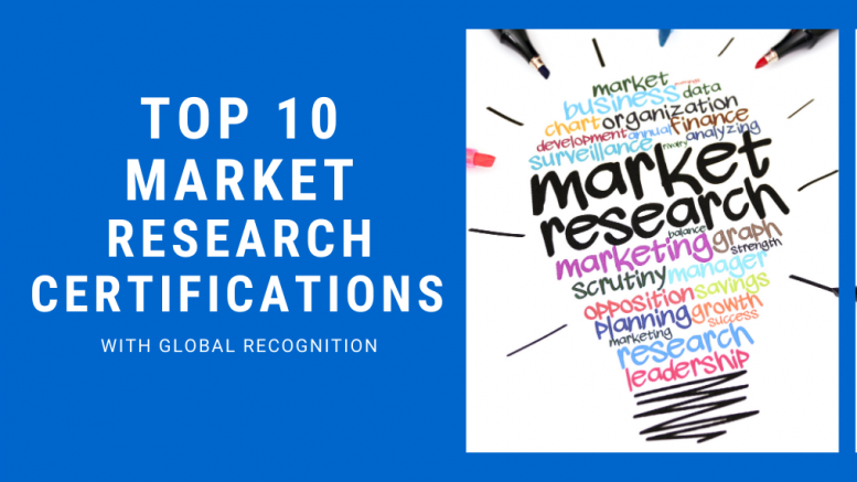 Top 10 Market Research Certifications
