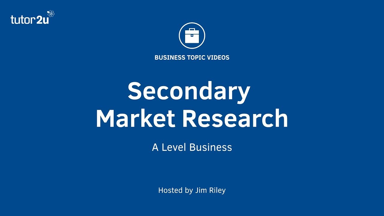 What is Secondary Market Research?